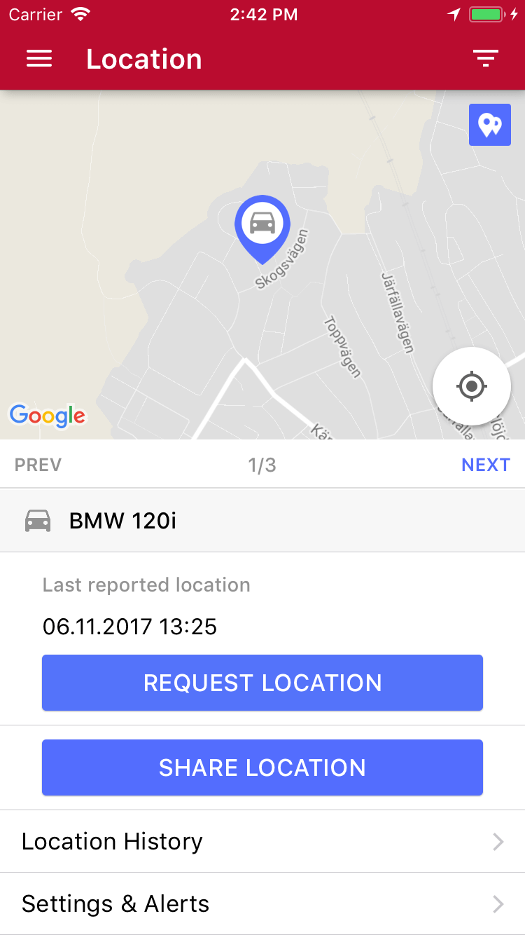 Possio App Location